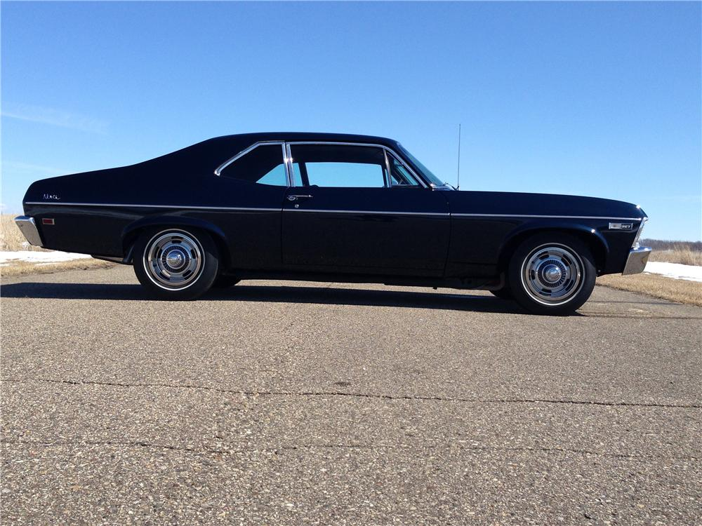 1968 CHEVROLET NOVA 2 DOOR HARDTOP - Side Profile - 170775