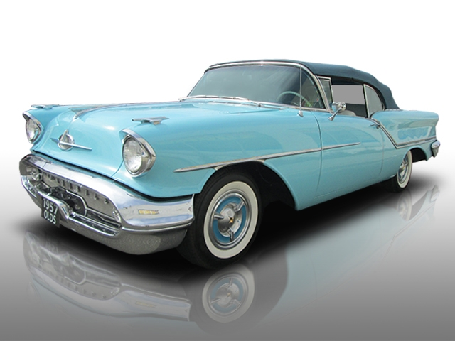 1957 OLDSMOBILE ROCKET 88 CONVERTIBLE - Front 3/4 - 170782