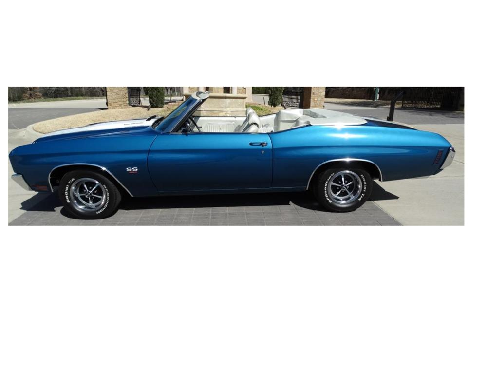 1970 CHEVROLET CHEVELLE CONVERTIBLE - Side Profile - 170843