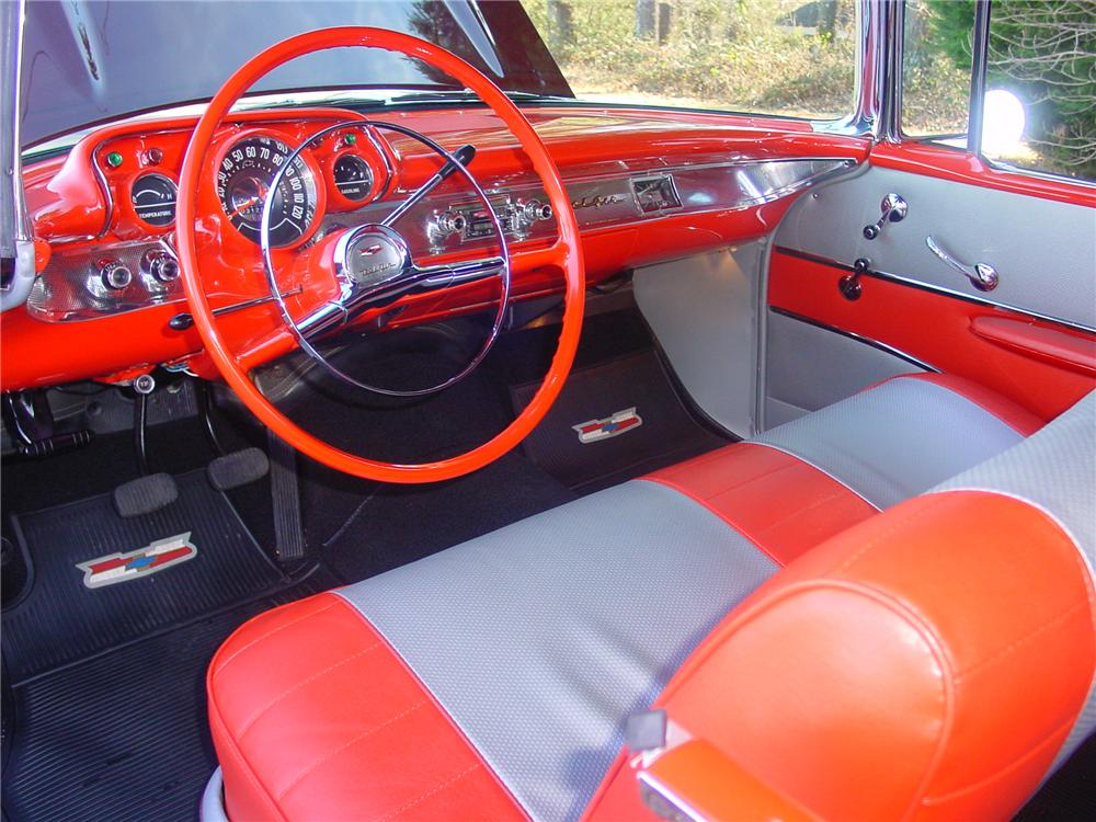 1957 CHEVROLET BEL AIR CONVERTIBLE - Interior - 170853