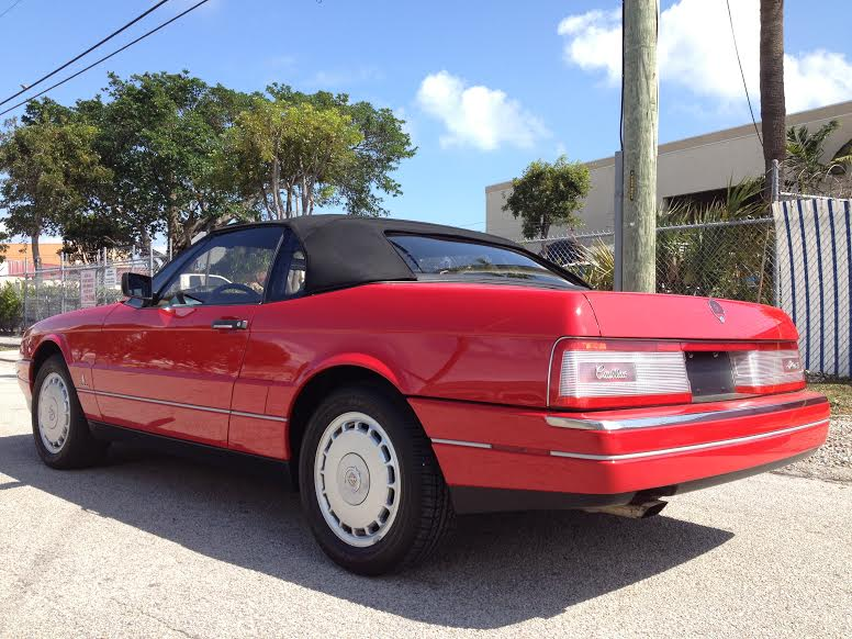 1990 CADILLAC ALLANTE CONVERTIBLE - Rear 3/4 - 170859