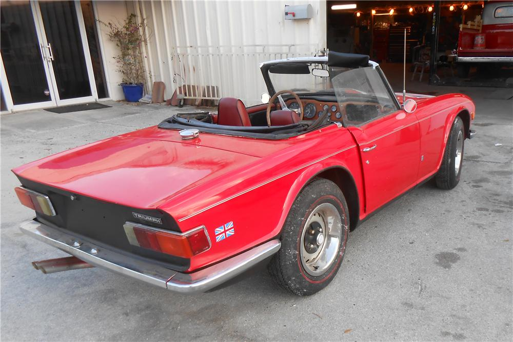 1972 TRIUMPH TR-6 ROADSTER - Rear 3/4 - 170936