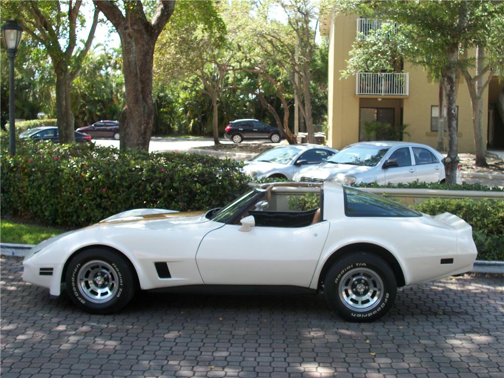 1981 CHEVROLET CORVETTE 2 DOOR COUPE - Side Profile - 170959