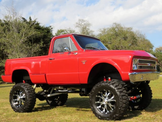1967 CHEVROLET K10 CUSTOM PICKUP - Side Profile - 170967