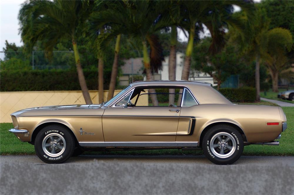 1968 FORD MUSTANG 2 DOOR COUPE - Side Profile - 172048