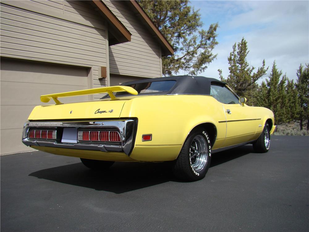 1973 MERCURY COUGAR XR7 CONVERTIBLE - Rear 3/4 - 174457