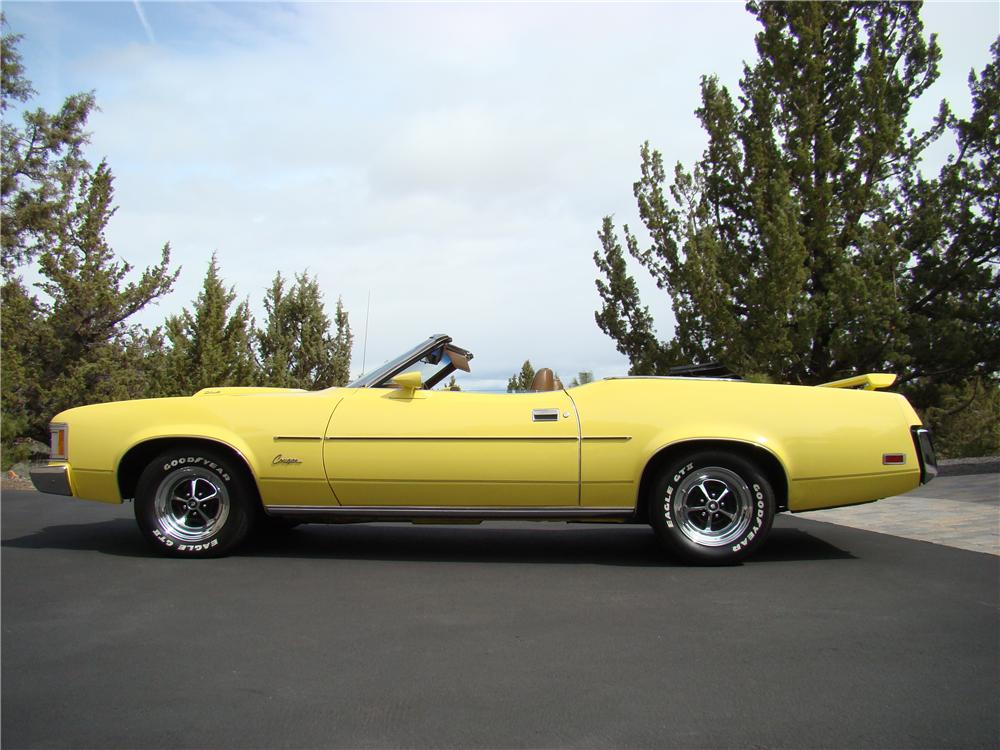 1973 MERCURY COUGAR XR7 CONVERTIBLE - Side Profile - 174457