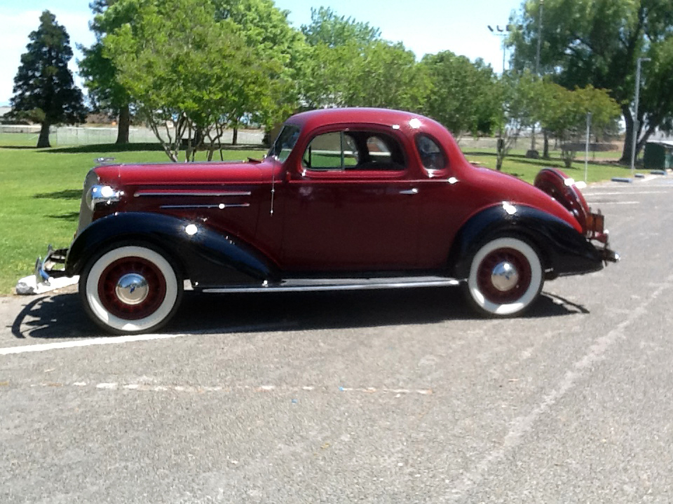 1936 CHEVROLET MASTER DELUXE 2 DOOR COUPE - Side Profile - 174459