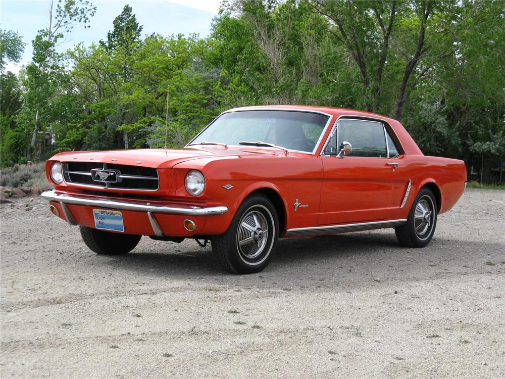 1965 FORD MUSTANG 2 DOOR COUPE - Front 3/4 - 174465