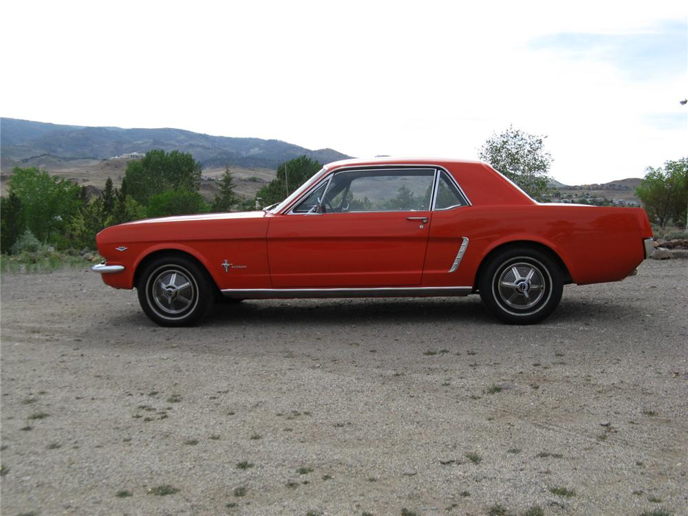1965 FORD MUSTANG 2 DOOR COUPE - Side Profile - 174465