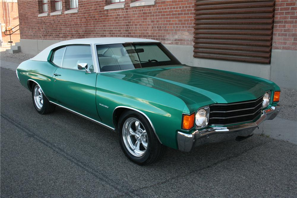 1972 CHEVROLET CHEVELLE 2 DOOR COUPE - Front 3/4 - 174477