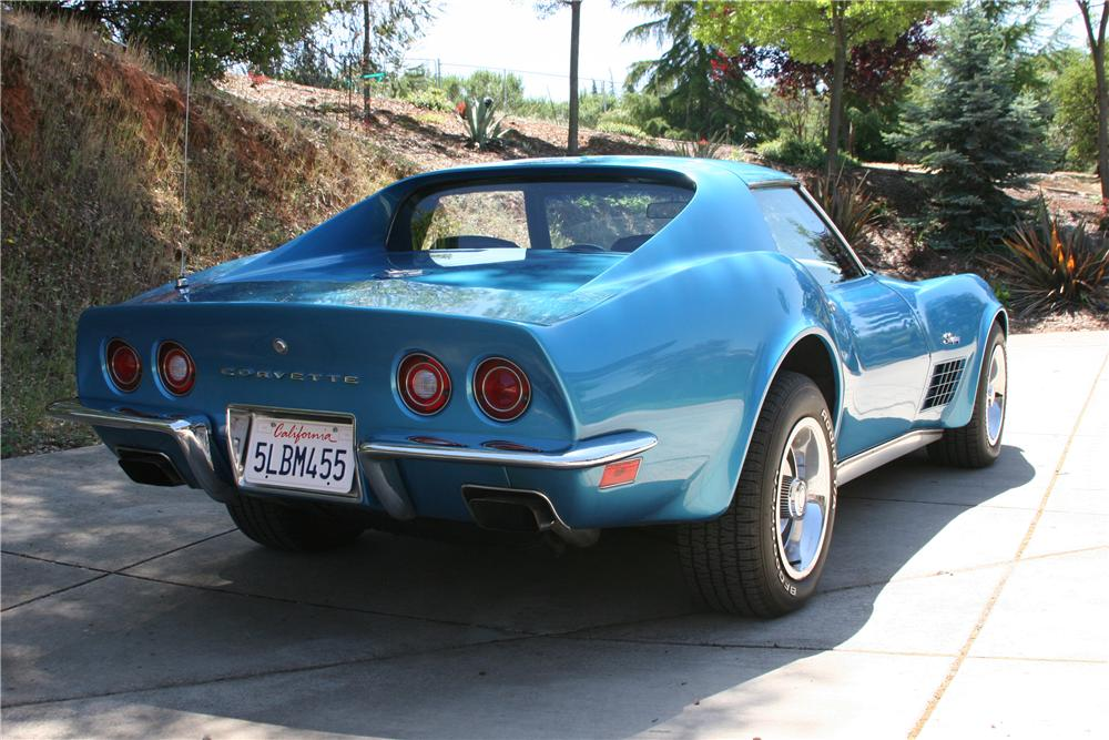 1971 CHEVROLET CORVETTE 2 DOOR COUPE - Rear 3/4 - 174484