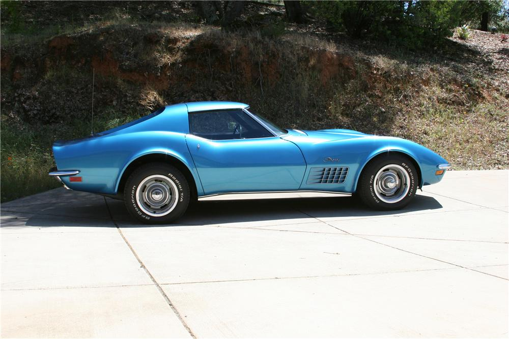 1971 CHEVROLET CORVETTE 2 DOOR COUPE - Side Profile - 174484