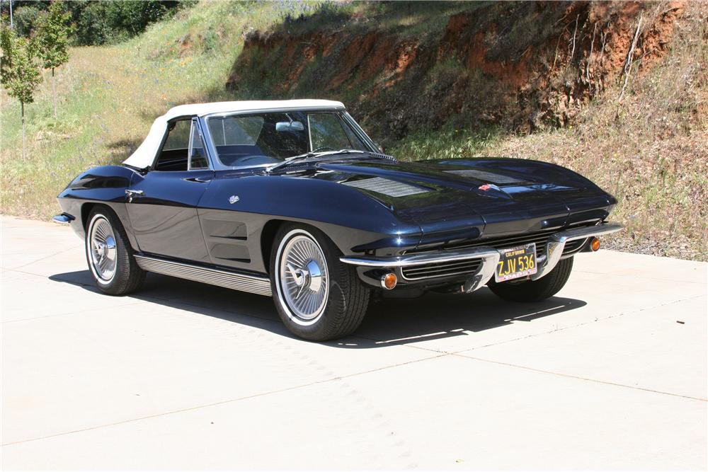 1963 CHEVROLET CORVETTE CONVERTIBLE - Front 3/4 - 174486