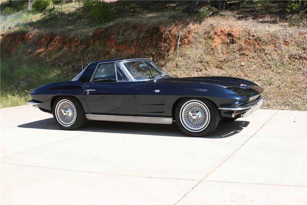 1963 CHEVROLET CORVETTE CONVERTIBLE - Side Profile - 174486