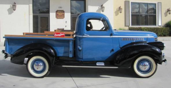 1941 CHEVROLET 1/2 TON PICKUP - Side Profile - 174490