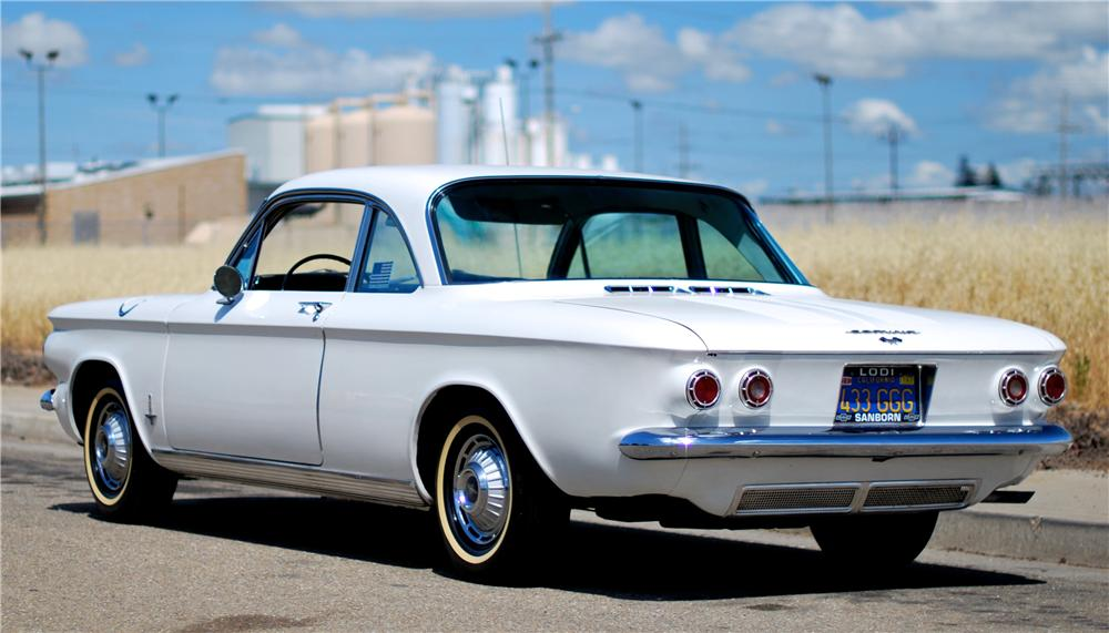 1962 CHEVROLET CORVAIR 2 DOOR COUPE - Rear 3/4 - 174499