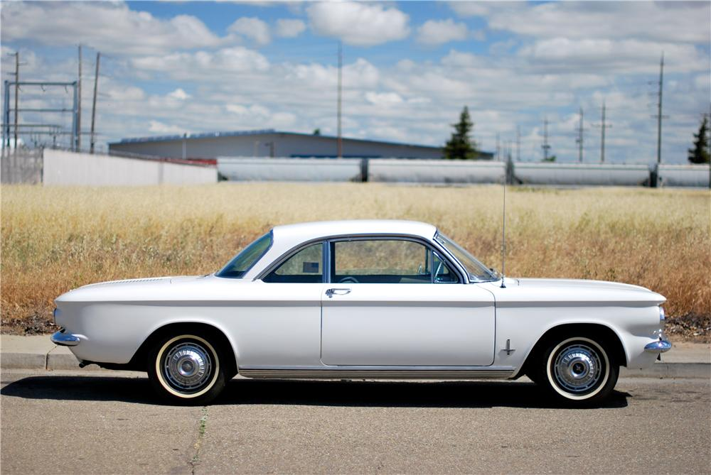 1962 CHEVROLET CORVAIR 2 DOOR COUPE - Side Profile - 174499
