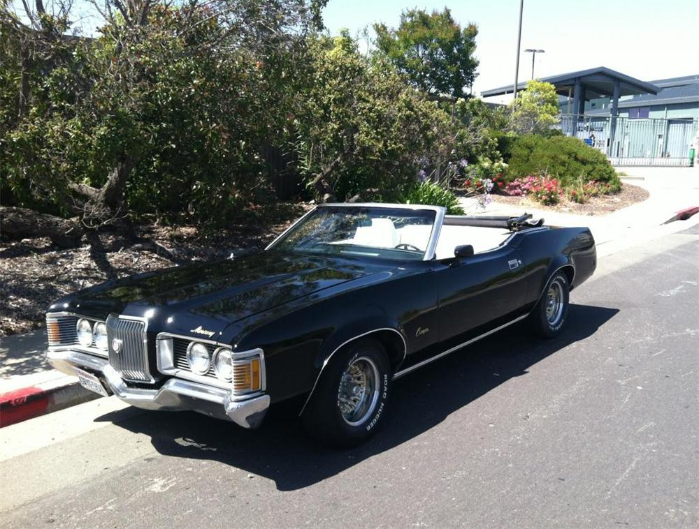 1972 MERCURY COUGAR XR7 CONVERTIBLE - Front 3/4 - 174506