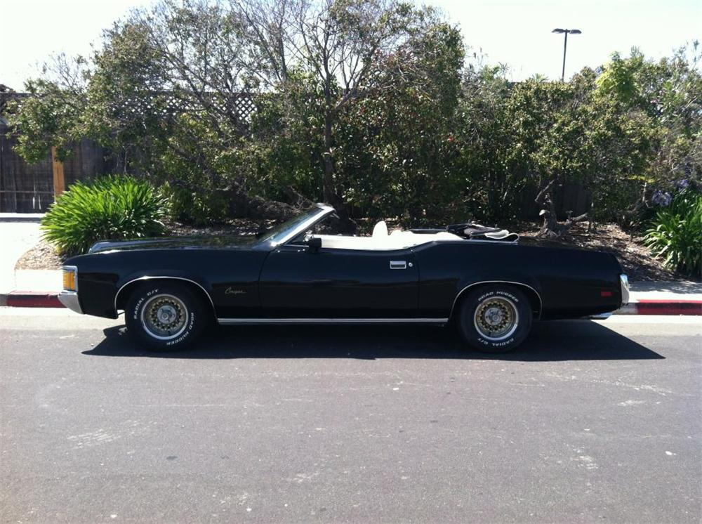 1972 MERCURY COUGAR XR7 CONVERTIBLE - Side Profile - 174506
