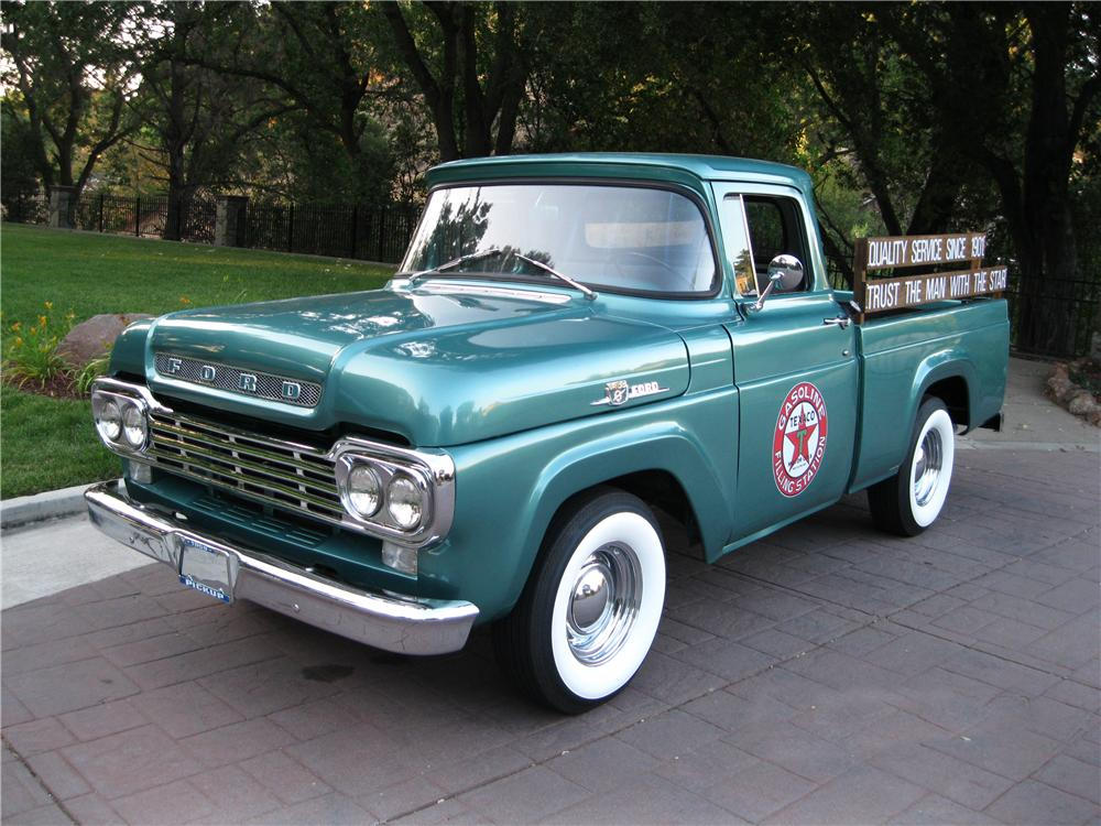 1959 FORD F-100 PICKUP - Front 3/4 - 174520