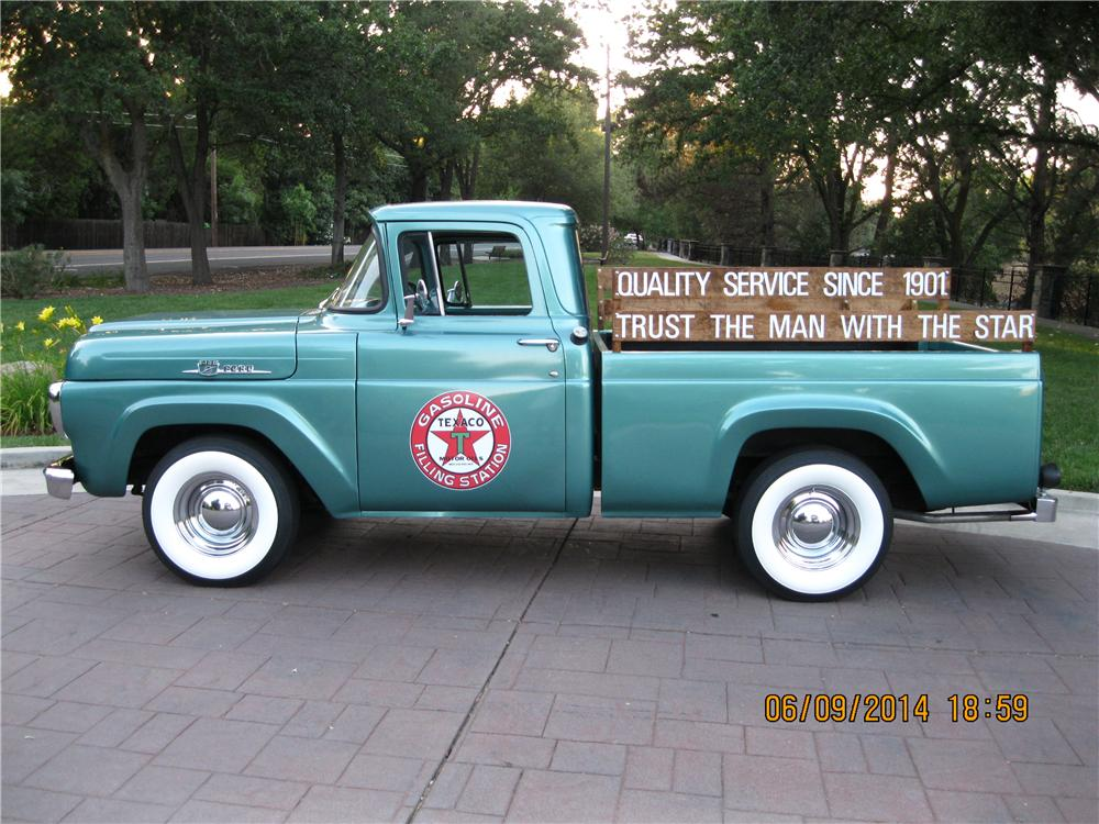 1959 FORD F-100 PICKUP - Side Profile - 174520