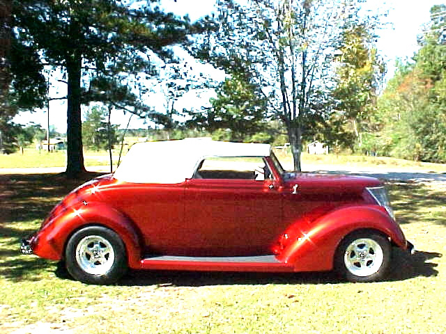 1937 FORD CUSTOM ROADSTER - Side Profile - 174525