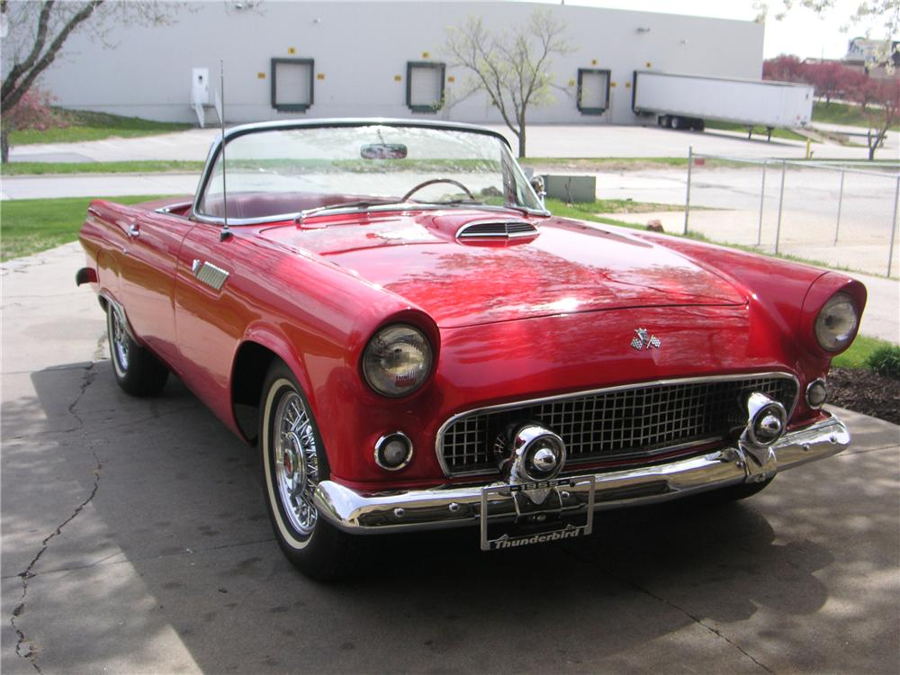 1955 FORD THUNDERBIRD CONVERTIBLE - Front 3/4 - 174530