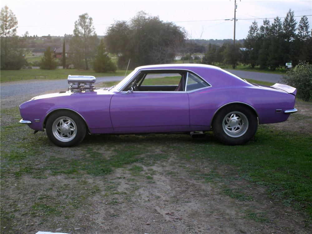 1968 CHEVROLET CAMARO CUSTOM 2 DOOR COUPE - Side Profile - 174533