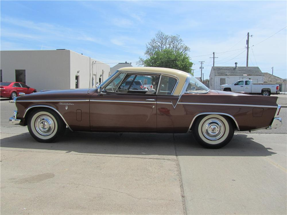 1956 STUDEBAKER GOLDEN HAWK 2 DOOR HARDTOP - Side Profile - 174537