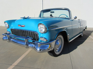 1955 CHEVROLET BEL AIR CONVERTIBLE - Front 3/4 - 174539
