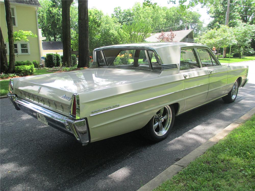 1965 MERCURY MONTCLAIR CUSTOM 4 DOOR SEDAN - Rear 3/4 - 174554