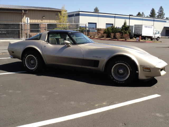 1982 CHEVROLET CORVETTE 2 DOOR COUPE - Side Profile - 174564