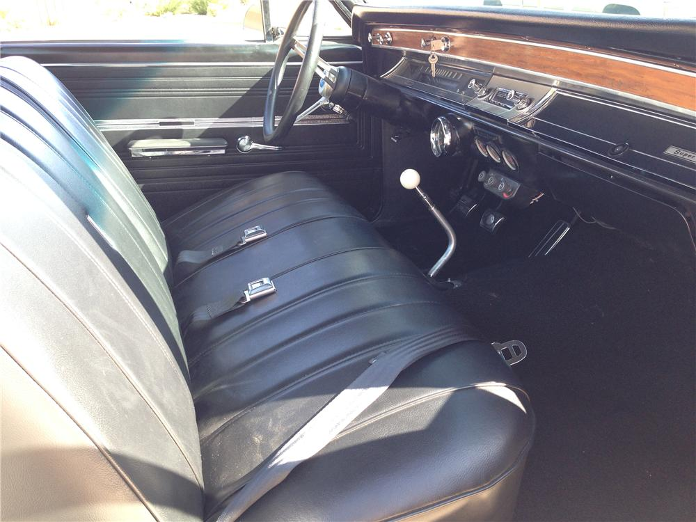1966 CHEVROLET EL CAMINO CUSTOM PICKUP - Interior - 174565