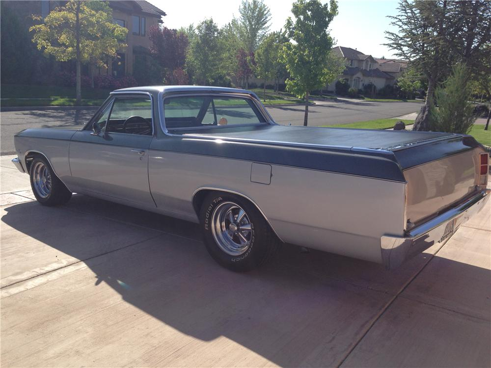 1966 CHEVROLET EL CAMINO CUSTOM PICKUP - Rear 3/4 - 174565