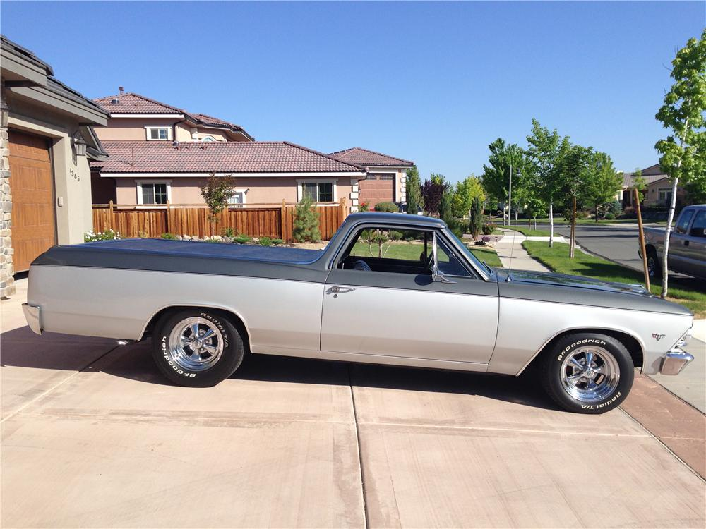 1966 CHEVROLET EL CAMINO CUSTOM PICKUP - Side Profile - 174565