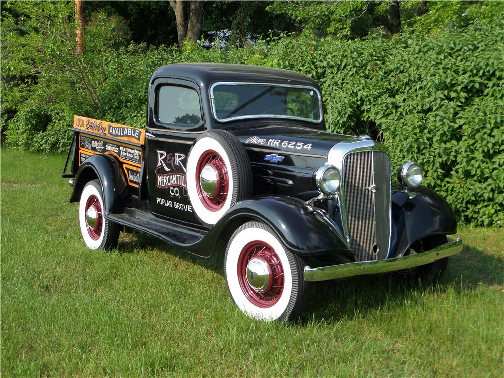 1936 CHEVROLET 1/2 TON PICKUP - Front 3/4 - 174575