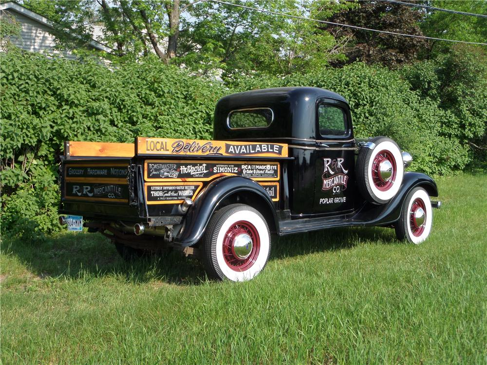 1936 CHEVROLET 1/2 TON PICKUP - Rear 3/4 - 174575