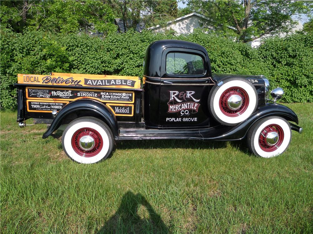 1936 CHEVROLET 1/2 TON PICKUP - Side Profile - 174575