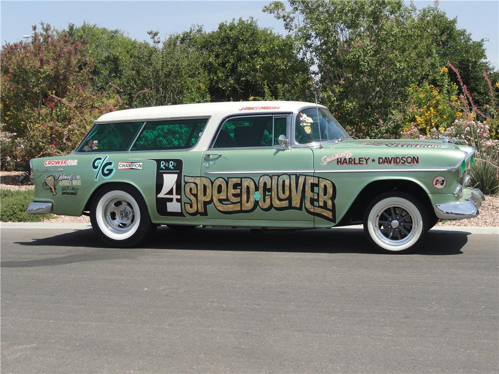 1955 CHEVROLET NOMAD GASSER - Side Profile - 174579