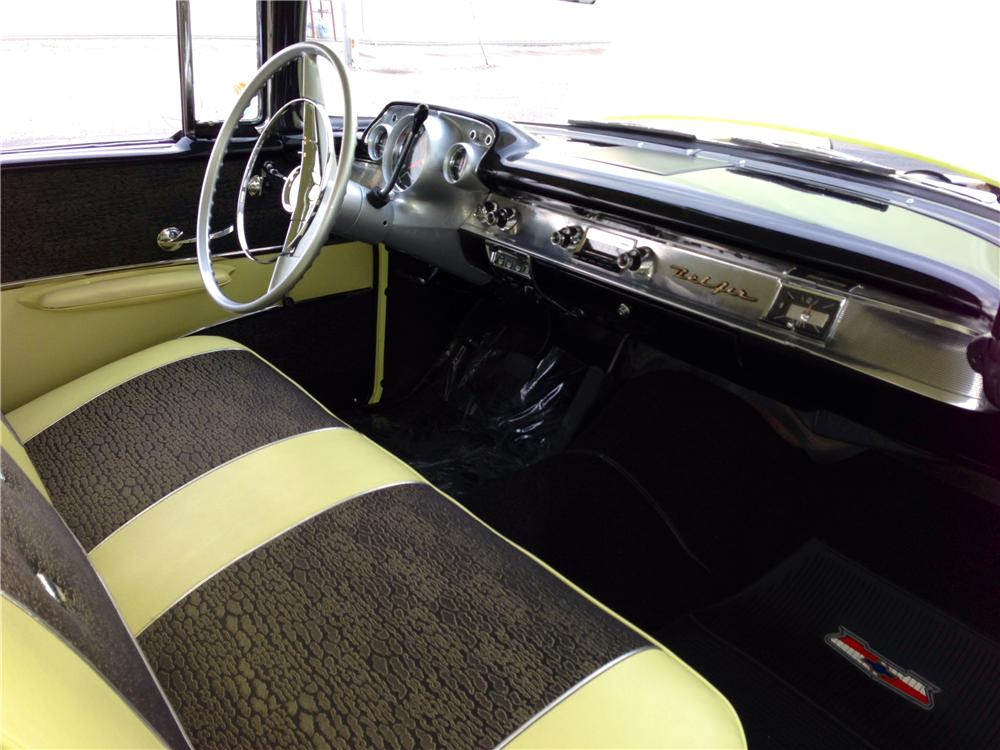 1957 CHEVROLET BEL AIR 2 DOOR HARDTOP - Interior - 174595