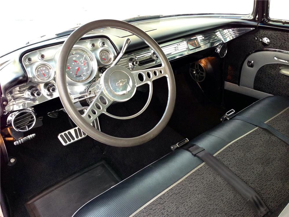 1957 CHEVROLET 210 CUSTOM 2 DOOR COUPE - Interior - 174596