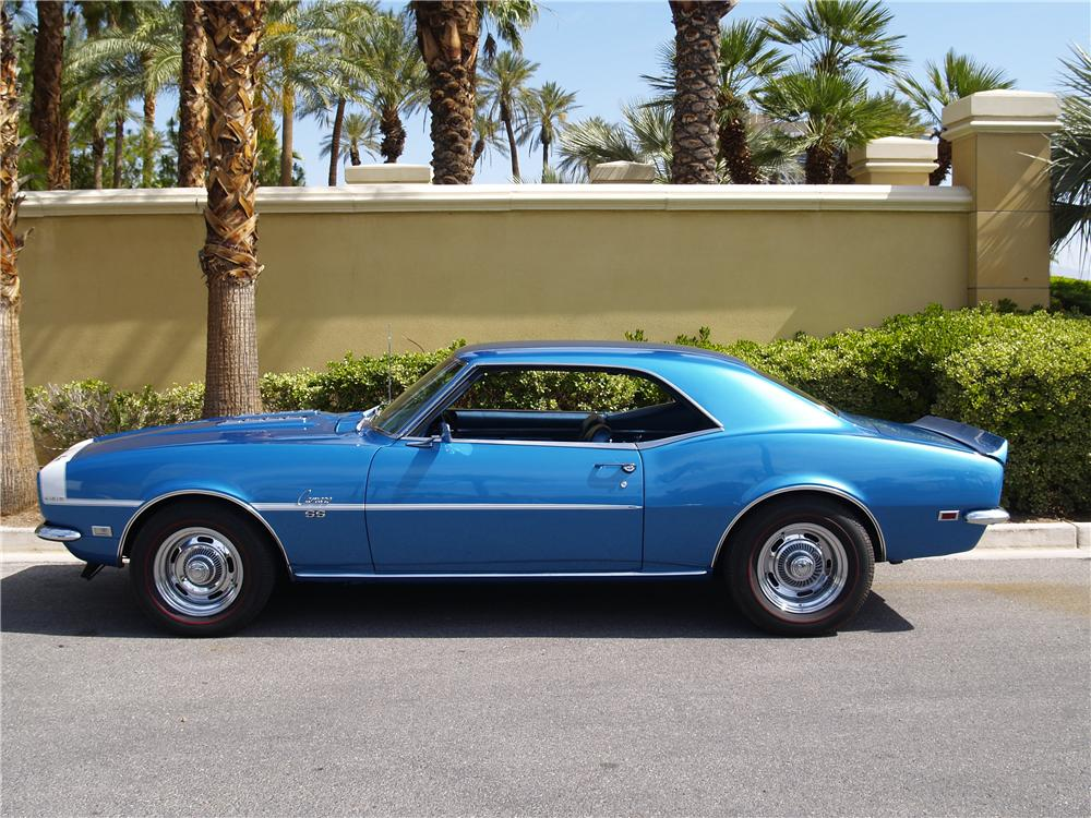 1968 CHEVROLET CAMARO SS 2 DOOR COUPE - Side Profile - 174612