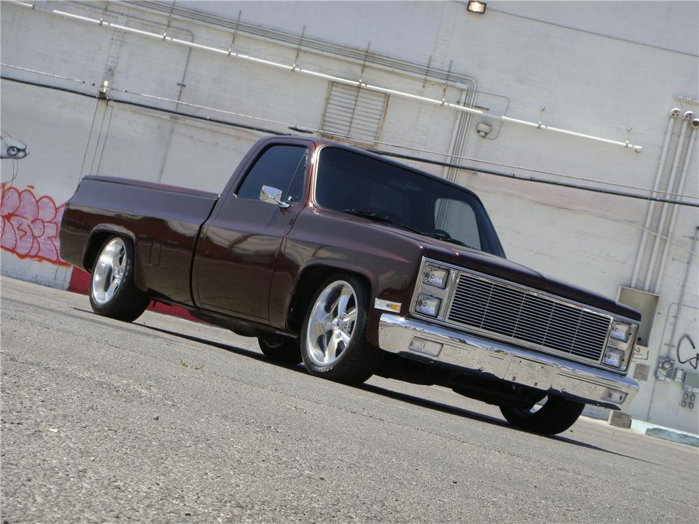 1987 CHEVROLET C-10 CUSTOM PICKUP - Front 3/4 - 174616