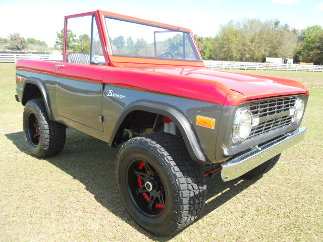 1968 FORD BRONCO CUSTOM HALF-CAB - Side Profile - 174618
