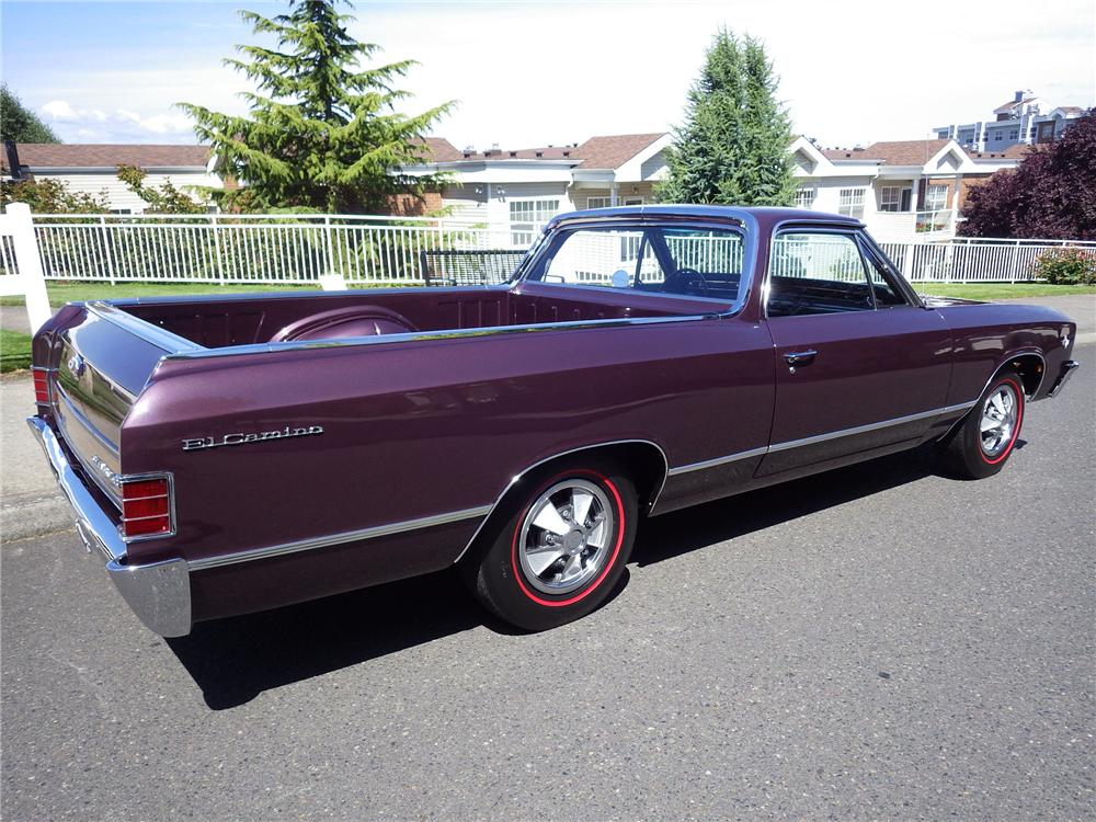 1967 CHEVROLET EL CAMINO L79 PICKUP - Rear 3/4 - 174621