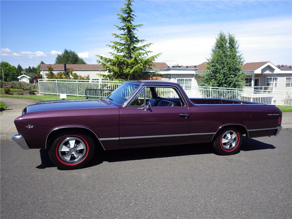 1967 CHEVROLET EL CAMINO L79 PICKUP - Side Profile - 174621