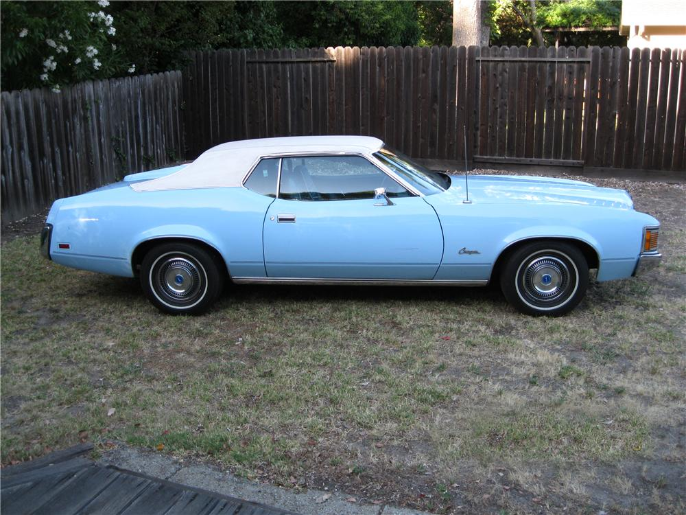 1972 MERCURY COUGAR 2 DOOR COUPE - Side Profile - 174628