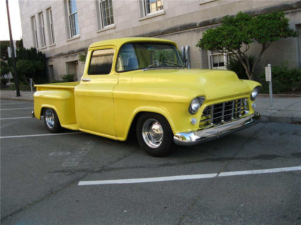 1956 CHEVROLET 3100 CUSTOM PICKUP - Front 3/4 - 174630