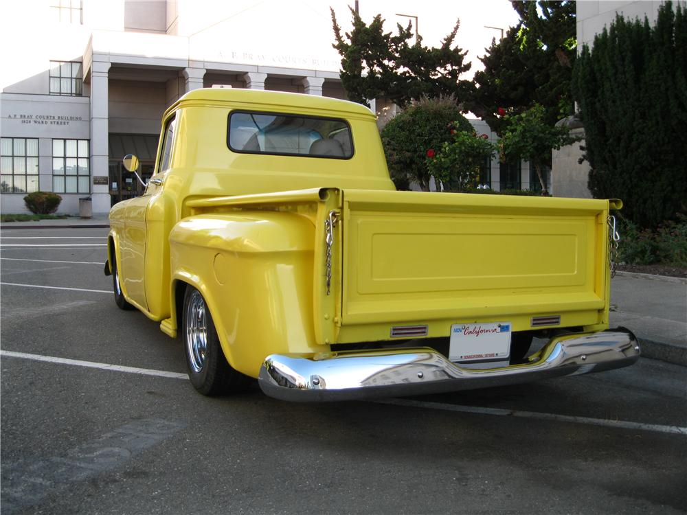 1956 CHEVROLET 3100 CUSTOM PICKUP - Rear 3/4 - 174630
